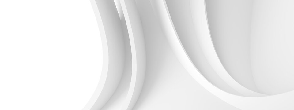 Monochrome Geometric Background. Panoramic Architecture Graphic Design