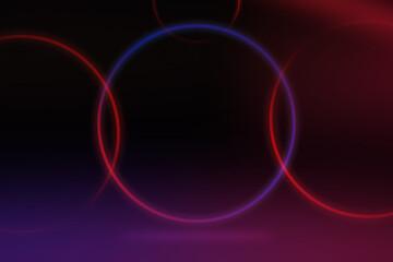 kolorowe paski disco, retro neonowe na czarnym tle z cieniem, koła kolorowe