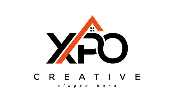 initial XPO letters real estate construction logo vector