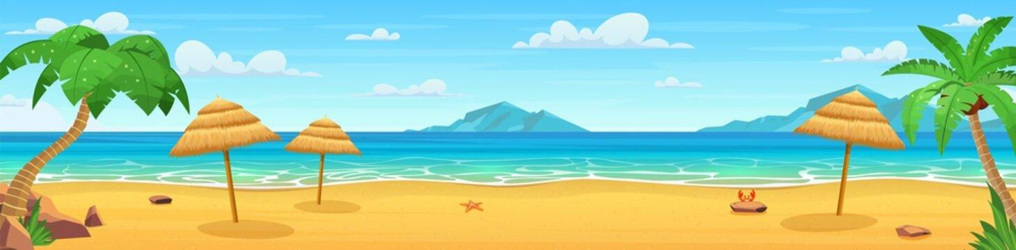 Sea panorama. Tropical beach