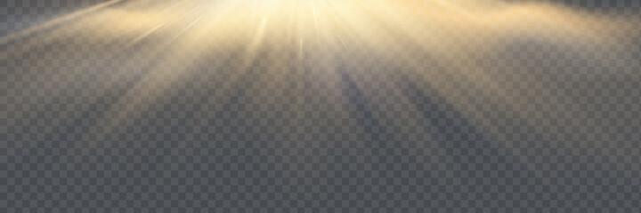 Fototapeta Vector transparent sunlight special lens flare light effect. obraz