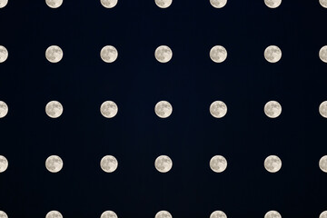 Moon pattern on a blue background