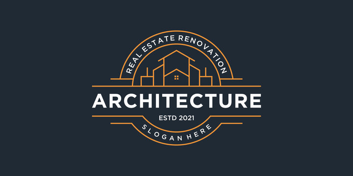 Set of building architecture emblem collection, real estate logo design symbols for your branding, company and business.
