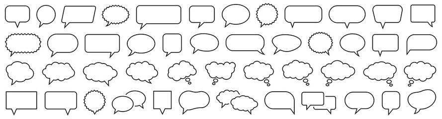 Fototapeta Speech Bubble set. Talk bubble. Cloud speech bubbles collection. Vector obraz