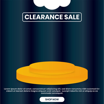 clearance social media banner sales. event monthly or weekly banner design. good for marketing and advertisement.Print