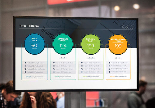 Pricing Table Tier Infographic Design