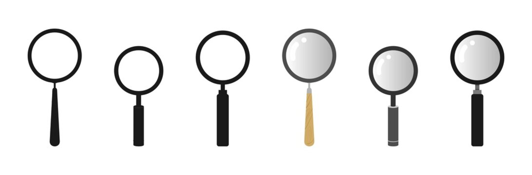 realistic magnifying vector