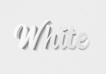 Fototapeta White Text Effect with Metal 3D Style Mockup obraz