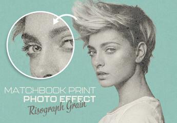 Fototapeta Risograph Matchbook Print Photo Effect Mockup obraz