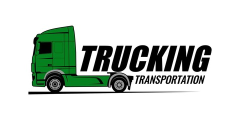 Fototapeta truck brand logo design concept vector obraz