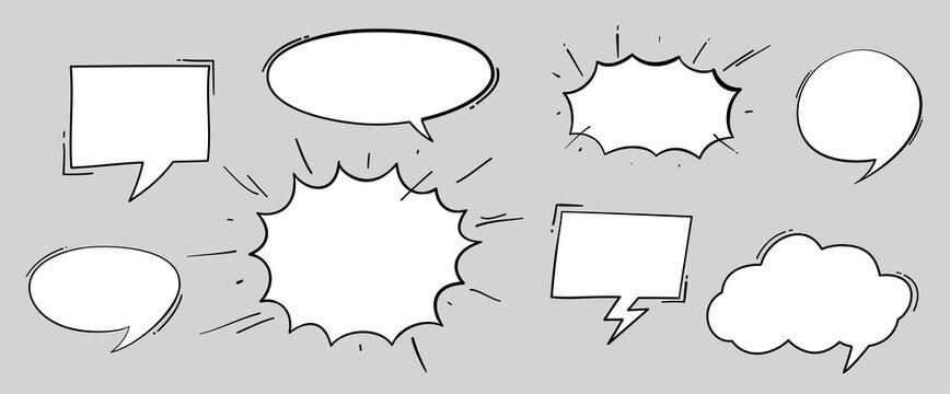 Boom effect set design for comic book. Comic Book cloud, pow sound symbol, bomb pow. Comic speech bubbles set.