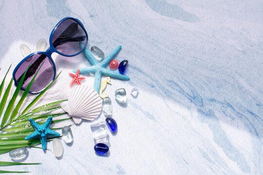 모래와 얼음과 여름 컨셉 이미지