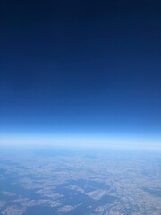 aerial view of sky over earth - fototapety na wymiar