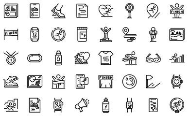 Obraz Runner app icon. Outline runner app vector icon for web design isolated on white background - fototapety do salonu