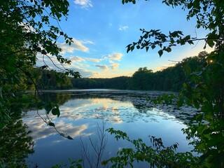 Mazurskie Jezioro Głowińskie - fototapety na wymiar