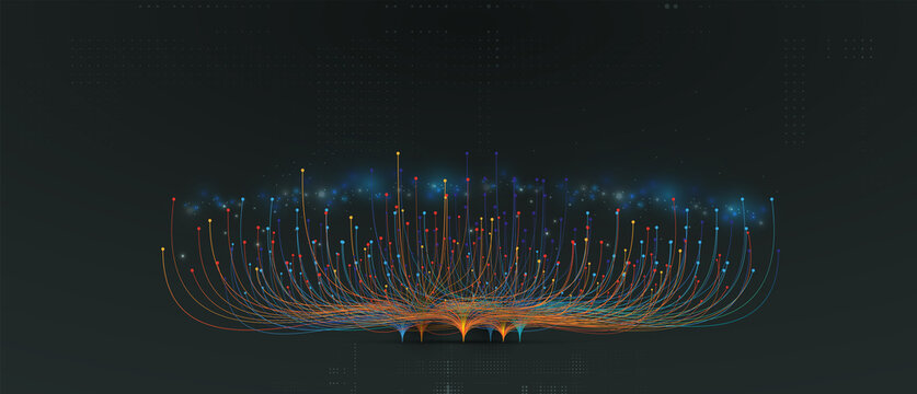 abstract technology data background Business & development