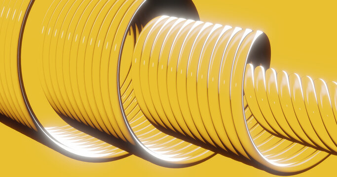 Render with abstract yellow spiral