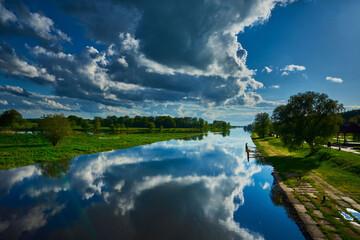 Rzeka Warta Poland Santok - fototapety na wymiar
