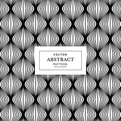 Fototapeta Vector seamless pattern. Abstract repeated monochrome pattern with curved filaments. Vector seamless texture. Curved filaments seamless pattern. Decorative Art Deco seamless pattern. obraz