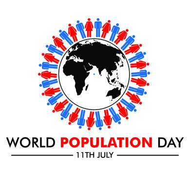 World population day vector image july 11th