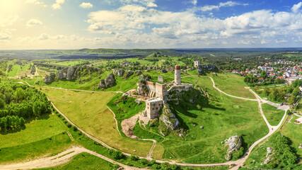Obraz Szlak Orlich Gniazd -zamek w Olsztynie koło Częstochowy w południowej Polsce - fototapety do salonu