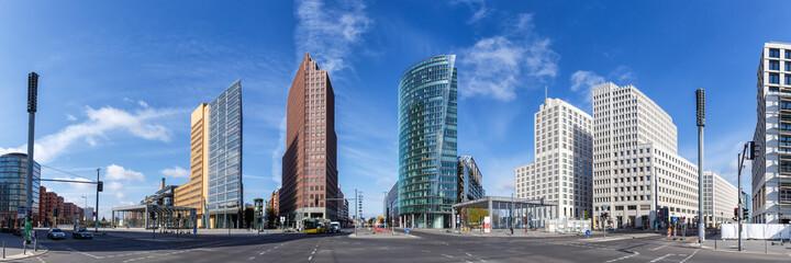 Fototapeta Berlin Skyline Potsdamer Platz square panoramic view in Germany obraz