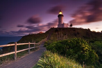Wonderful place in Australia, the coast and ocean, Queensland, Lighthouse in Byron Bay