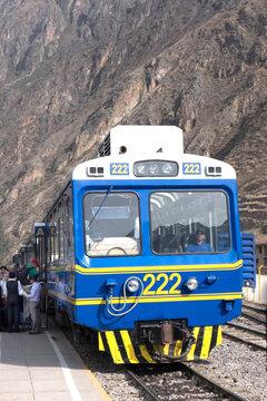 Tourist train to Machu Picchu
