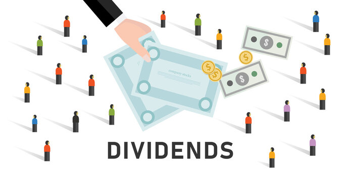 Dividends stock market company profit share to stakeholder investor earning