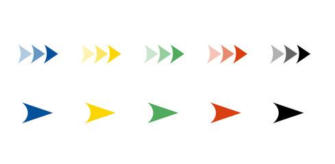 Fototapeta カラフルな矢印アイコンセット  obraz