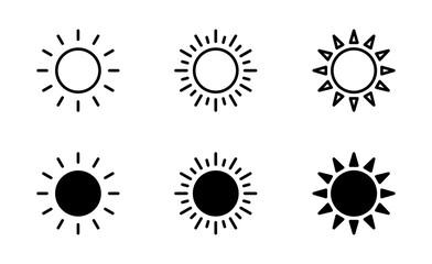 Obraz Sun icon set, Sun symbol vector - fototapety do salonu