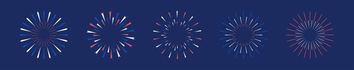 Fototapeta firework 4th july usa celebration fireworks independence patriot memorial day obraz