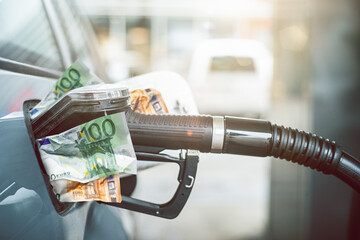 Fototapeta Benzin Tanken Preise Teuer obraz