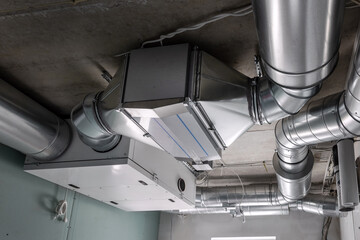 Fototapeta ducted heat recovery ventilation system with recuperation obraz