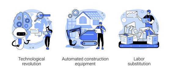 Obraz Modern innovation abstract concept vector illustrations. - fototapety do salonu