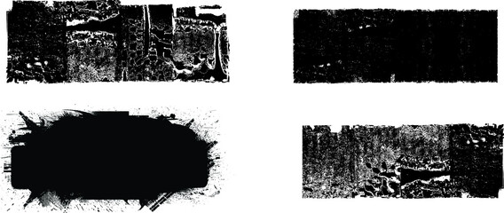 Fototapeta Grunge paint roller . Vector brush stroke . Distressed banner . Black stripes isolated. paintbrush collection . Modern textured shape . Dry border in black . Bulge lines obraz