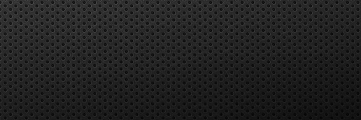 Obraz Metallic scratched black background. - fototapety do salonu