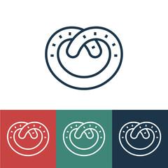 Linear vector icon with pretzel