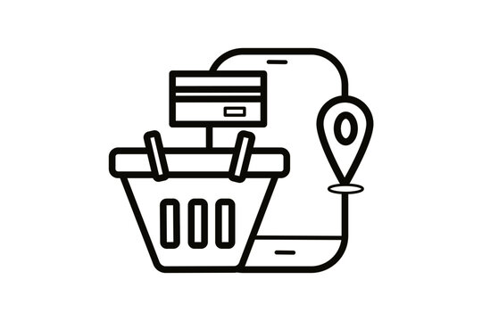 line, add, trolley, cart, touch, editable, delivery, electronic, filled, e-commerce, computer, tablet, flat, cellphone, glyph, eshop, mobile shop, clipart, linear, telephone, purchase, mobile, commerc