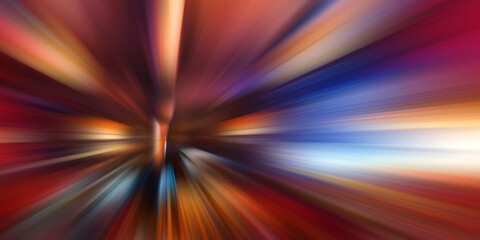 Abstract Motion speed background, colorful lines and blur