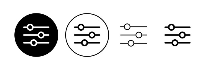 Fototapeta Setting Icon set. Cog Settings Icon Symbol obraz