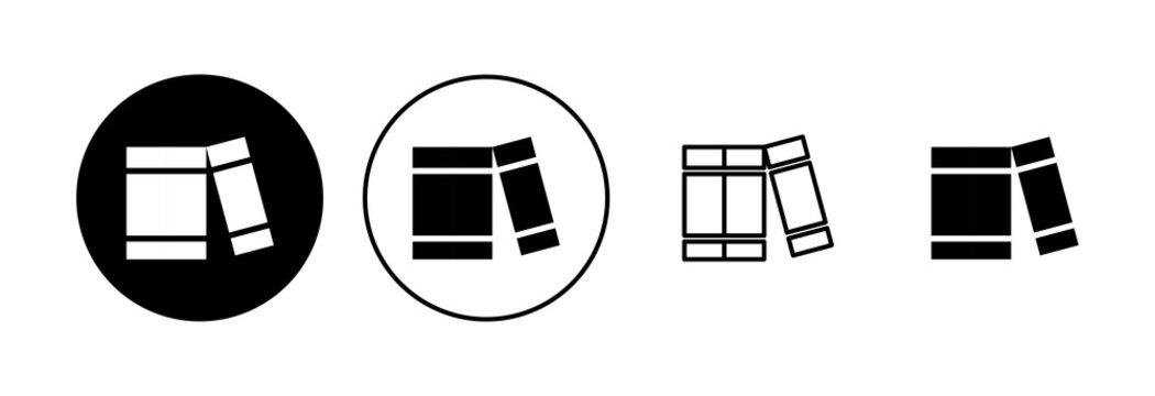 Library icon set. education icon vector