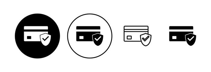 Fototapeta Credit card icon set. Credit card payment icon vector obraz
