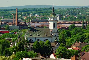 Fototapeta Ostrowiec Świętokrzyski kolegiata ( kościół) pod wezwaniem świętego Michała Archanioła . obraz