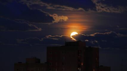 Obraz czerwony księżyc - fototapety do salonu