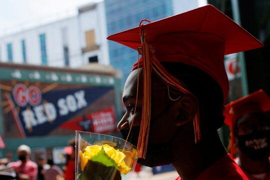 High School graduation held at Fenway Park in Boston