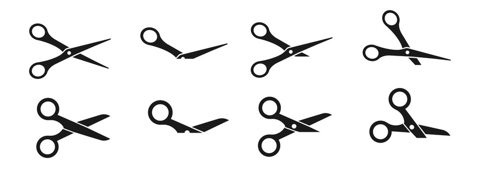 Vector illustration of Scissors set
