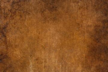 Obraz Grunge coffee brown distressed background, old paper textured layout of light center and dark vignette edges, old warm autumn background, grain illustration backdrop - fototapety do salonu