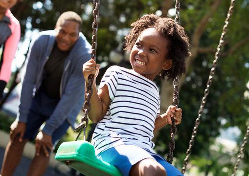 African kid having fun