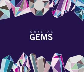 Fototapeta crystal gems frame obraz